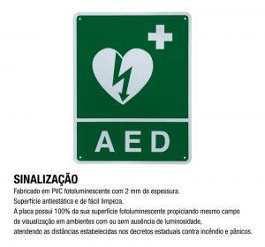 Sinalização AED